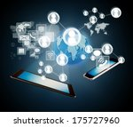 technology concept with smart... | Shutterstock . vector #175727960