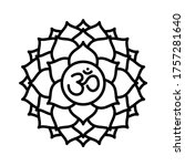 sahasrara icon. the seventh... | Shutterstock .eps vector #1757281640