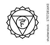 vishuddha icon. the fifth...   Shutterstock .eps vector #1757281643