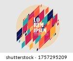 minimalistic design  creative...   Shutterstock .eps vector #1757295209