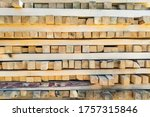 A Large Pile Of Boards Sawn...