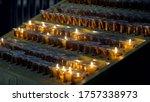 Church Candles. Interior...