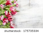 Beautiful Red Tulips And...