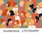 coronavirus vector illustration ... | Shutterstock .eps vector #1757354399