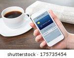 businesswoman hand holding a... | Shutterstock . vector #175735454