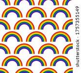 lgbt  sign. rainbow shape.... | Shutterstock .eps vector #1757355149