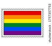 lgbt pride flag or rainbow flag ... | Shutterstock .eps vector #1757357753