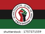 juneteenth freedom day. june 19 ... | Shutterstock .eps vector #1757371559