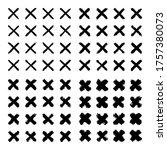 black brush stroke collection.... | Shutterstock .eps vector #1757380073