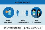 coronavirus covid 19 safety... | Shutterstock .eps vector #1757389736