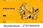 online party isometric landing... | Shutterstock .eps vector #1757394929