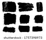 set vector brush stroke...   Shutterstock .eps vector #1757398973
