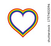 heart shape lgbt rainbow pride... | Shutterstock .eps vector #1757402096