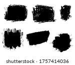 set of vector brush stroke... | Shutterstock .eps vector #1757414036