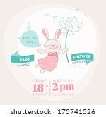 baby shower or arrival card... | Shutterstock .eps vector #175741526