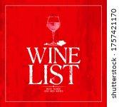 wine list menu card cover...   Shutterstock . vector #1757421170