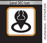 local s e o icon. vector...
