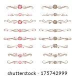 set of decorative floral... | Shutterstock .eps vector #175742999