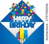 happy birthday greeting card... | Shutterstock .eps vector #1757450246