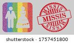 distress missis stamp and... | Shutterstock .eps vector #1757451800