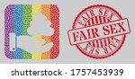 grunge fair sex seal and mosaic ... | Shutterstock .eps vector #1757453939