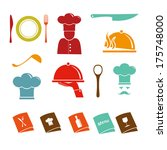 kitchen vector icons | Shutterstock .eps vector #175748000