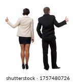 Back View Of Business Couple I...
