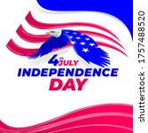 independence day america eagle...   Shutterstock .eps vector #1757488520