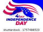 independence day america eagle...   Shutterstock .eps vector #1757488523