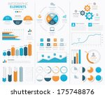 big infographic vector elements ...