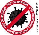 poster stop coronavirus with... | Shutterstock .eps vector #1757489399