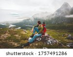 Man Hiker Exploring Mountains...
