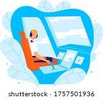 civil aviation pilot woman...   Shutterstock .eps vector #1757501936