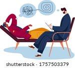 psychologist professional help...   Shutterstock .eps vector #1757503379