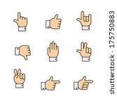 hand gestures icons set ... | Shutterstock .eps vector #175750883