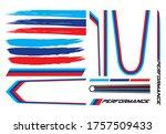 vector stripes set for car | Shutterstock .eps vector #1757509433