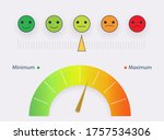 risk concept on speedometer.... | Shutterstock .eps vector #1757534306