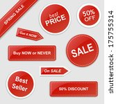 set of vector stickers with... | Shutterstock .eps vector #175755314
