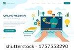 webinar. internet conference.... | Shutterstock .eps vector #1757553290