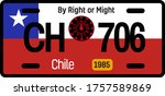 chile automobile license plate... | Shutterstock .eps vector #1757589869