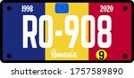 romania automobile license... | Shutterstock .eps vector #1757589890