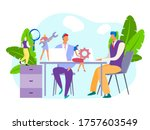 technical support at business...   Shutterstock .eps vector #1757603549