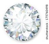 realistic vector diamond... | Shutterstock .eps vector #175760498