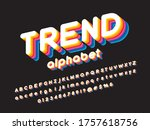 colorful stylized alphabet... | Shutterstock .eps vector #1757618756