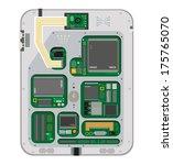 circuit board interior of... | Shutterstock .eps vector #175765070