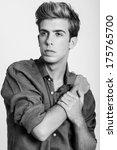 portrait of handsome blonde man ... | Shutterstock . vector #175765700