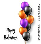 halloween background with air... | Shutterstock .eps vector #1757665559