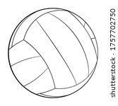 vector volleyball icon. flat...
