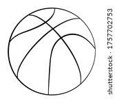 vector basketball icon. flat...