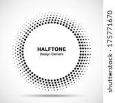 black abstract halftone logo... | Shutterstock .eps vector #175771670